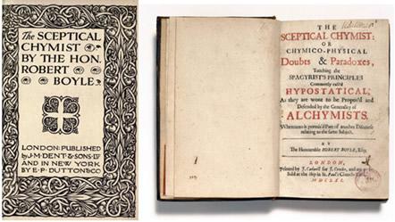 """Ilustração do livro """"O Químico Cético"""" (1661), de Robert Boyle"""