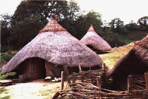 Réplica de habitações típicas do final do Neolítico.