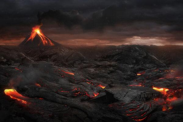 A Terra primitiva era extremamente quente e constantemente bombardeada por meteoritos.