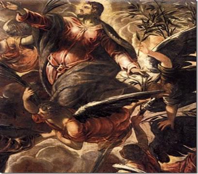 """A intensidade da luz e do calor """"A Ascensão"""". Tintoretto (1515-1549) - Itália"""