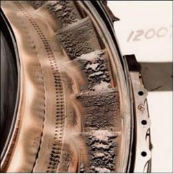 urbina do avião 747 da British Airways, que ficou totalmente danificada após passar por cinzas vulcânicas