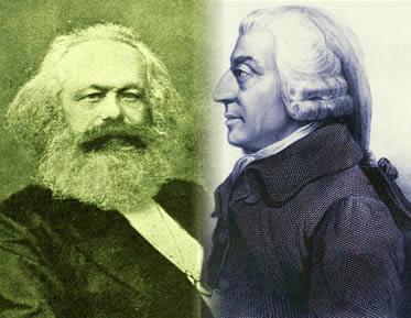 Karl Marx e Adam Smith: pensadores fundamentais das teorias socialistas e liberais