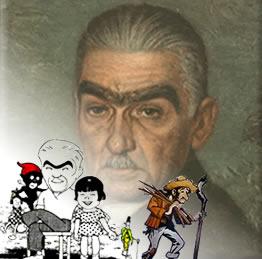 Monteiro Lobato e alguns de seus personagens