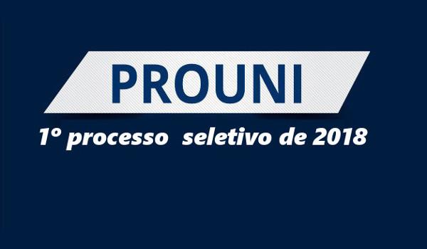 Vagas para o ProUni 2018 já podem ser consultadas