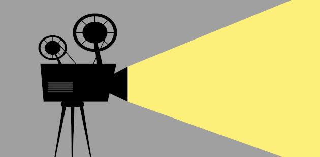 Ilustração de câmera projetando
