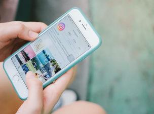 Interface do instagram no celular