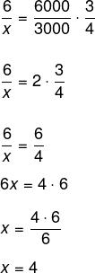 Resolução de regra de três composta com as grandezas tempo, itens e quantidade de máquinas