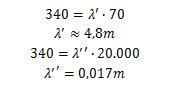 Cálculo de comprimentos de onda de som produzido em caixa de som portátil