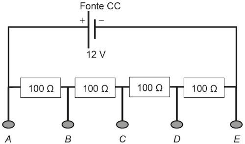 Esquema ilustrativo de associação de resistores