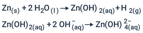 Reações que ocorrem em paralelo em bateria zinco-ar