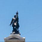 Monumento em homenagem a Arturo Prat, que liderou embarcação chilena durante a Guerra do Pacífico