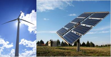 A energia eólica e a solar são renováveis