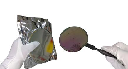 Lâminas de silício utilizadas na produção de chips