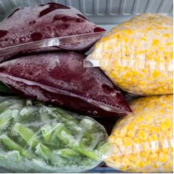 Alimentos congelados para diminuir a velocidade da reação de decomposição