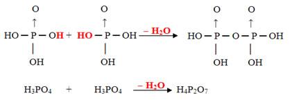 Desidratação intermolecular do ácido ortofosfórico para a formação do ácido pirofosfórico