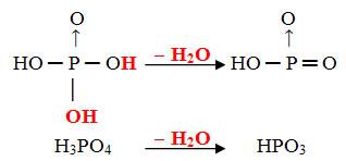 Desidratação intramolecular do ácido ortofosfórico para a formação do ácido metafosfórico
