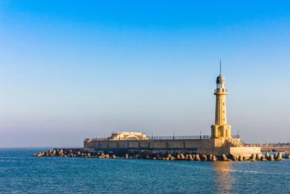 Reprodução do Farol de Alexandria