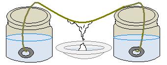 Formação de estalactites e estalagmites em experimento