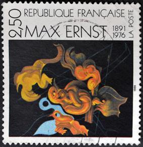 Selo estampando obra de Max Ernest. ***