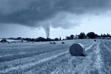 Exemplo de um Tornado