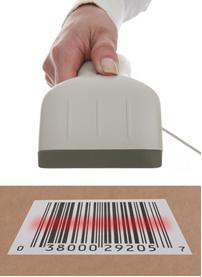 O leitor de código de barras comunica-se por radiação infravermelha com o computador