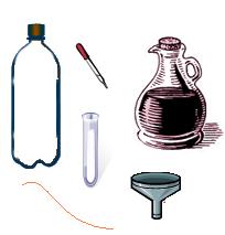 Materiais necessários para experimento do extintor de incêndio caseiro