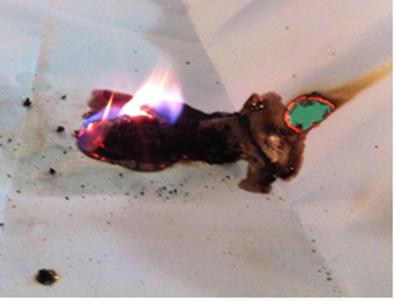 A oxidação da glicerina pelo permanganato faz papel pegar fogo*