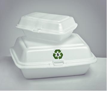 Símbolo de reciclagem do poliestireno