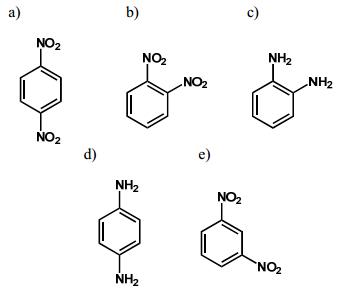 Exercício envolvendo fórmula da paradinitrobenzeno