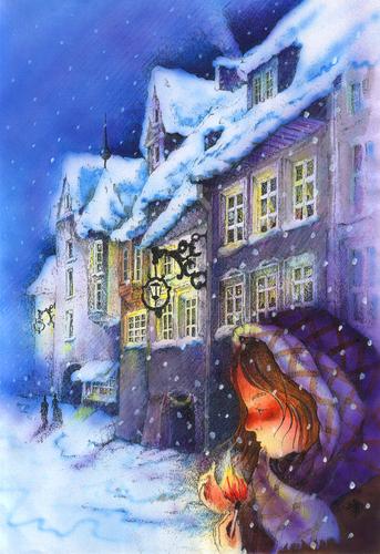 No conto de Hans Christian Andersen, a menina vendedora de fósforos morre de frio e de fome, ignorada pelos transeuntes