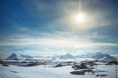 Formas de relevo na Antártida