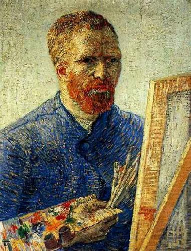 A metalinguagem está presente no autorretrato de Van Gogh. Nele podemos observar que a tela tem por motivo a própria pintura
