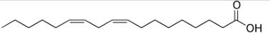 Estrutura do ácido linoleico