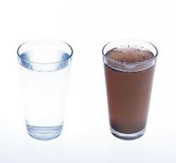 Água poluída por poluição sedimentar