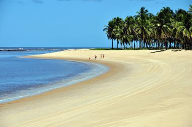 Praia do Gunga, importante ponto turístico de Maceió (AL)