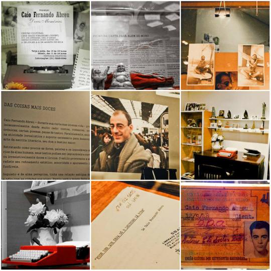 """Fotografias da exposição """"Caio Fernando Abreu: Doces Memórias"""", realizada no Centro Cultural Érico Veríssimo. Imagens de Márcia de Abreu Jacintho.*"""