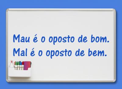 Mau Ou Mal Dúvidas Linguísticas Mau Ou Mal Brasil Escola