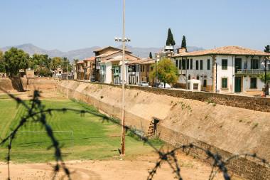 Vista do Muro do Chipe, na linha verde de Nicósia