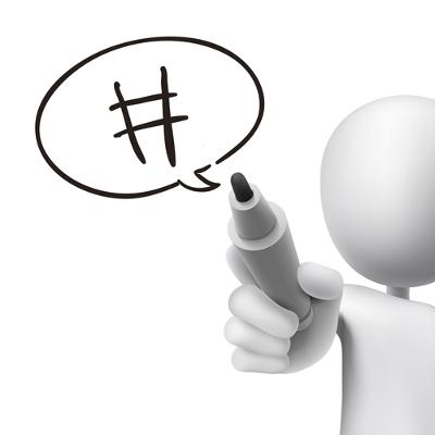 Inicialmente, as hashtags eram utilizadas com o nome do canal para indexar um assunto em um determinado grupo de discussões da internet