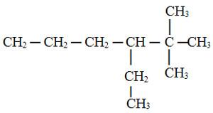 Composto em exercício sobre nomenclatura de radicais orgânicos
