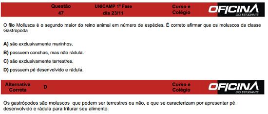 Questão 47 Unicamp 2015
