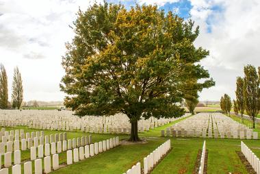 Cemitério de soldados mortos na Primeira Guerra Mundial, Bélgica