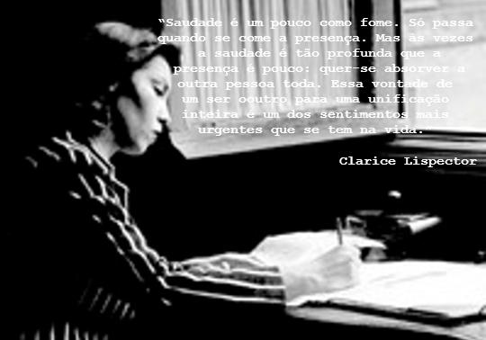 Fragmento de uma crônica de Clarice Lispector publicada no Jornal do Brasil em 1968 *