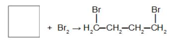 Reação de adição no ciclobutano utilizando bromo