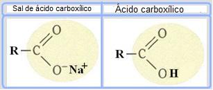 Os sabões são sais de ácidos carboxílicos em que o hidrogênio do ácido é substituído por um cátion.