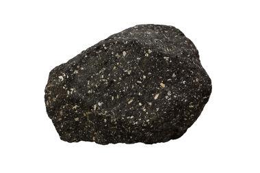 Andesito, rocha vulcânica que recebe esse nome por ser abundante na região dos Andes