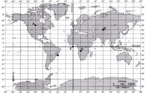 mapa com latitude e longitude Latitudes e longitudes   Brasil Escola mapa com latitude e longitude