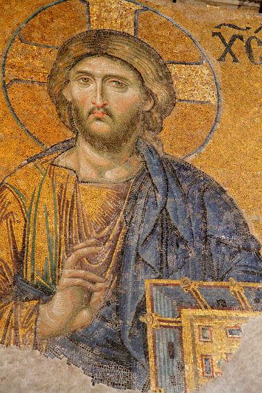 Os mosaico bizantinos representavam personalidades ou passagens da bíblia