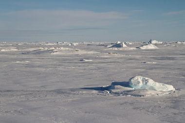 Deserto polar na Antártida, completamente inóspito