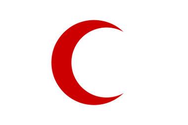 Em países de maioria islâmica, a organização é representada pelo Crescente Vermelho